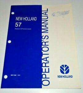 New Holland 57 Rake Operators Owners Maintenance Manual 8/00 NH Original!