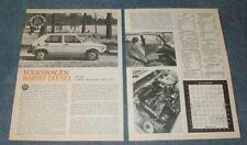 1977 Volkswagen Rabbit Diesel Vintage Road Test Info Article