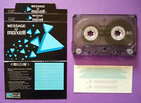 MC Musicassetta Message by MAXELL 80 vintage compact cassette tape USATA no agfa