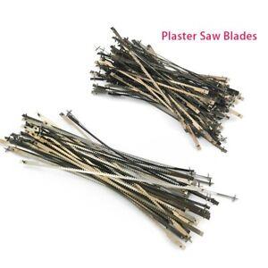 100 Pcs Long Plaster Saw Blades 128mm Dentist Tool Dental Lab Equipment
