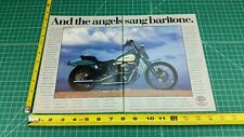 1992 Harley-Davidson FXSTS Springer Softail Evo 1340 2-Page Ad & Color Photo