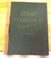 F.W. Beers 1869 Atlas Of Windsor County Vermont. Antique. Great Maps, Pictures