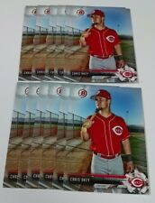 12 2017 Bowman CHRIS OKEY card lot CINCINNATI REDS Clemson Tigers ACC Baseball