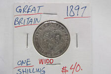 1897 GREAT BRITAIN ONE SHILLING FREE SHIPPING WITHIN USA W100