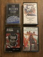 cassette tapes lot of 4 Tapes Various Artist- Motown Story, Otis Redding, Sly &