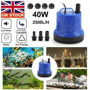 Fish Tank  Water Pump Submersible  Pond Aquarium Waterfall Fountain Sump Feature