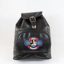 90's MICKEY MOUSE Disney Black Vinyl Vegan Backpack Tote Bag