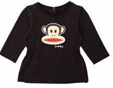 Paul Frank Baby Unisex Small Paul PF8186W2 L/Sleeve T-Shirt DK Grey - Up to 18M