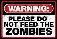 Warning Zombies Blechschild Schild gewölbt Metal Tin Sign 20 x 30 cm FA0347
