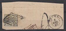 FRANCOBOLLI 1867 STATO PONTIFICIO 2 BAJ BIANCO ROMA 6/8 C/7185
