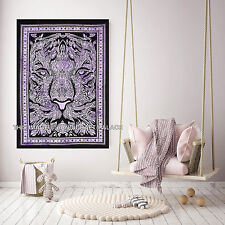 Lion Face Cotton Tapestry Throw Hippie Wall Hanging Decor Poster Tapestries Boho