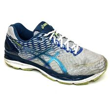Asics Gel Nimbus 18 Mens Shoes T602N Silver Ink Yellow Size 12 4E Extra Wide
