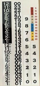 Pennwood / Tymeter / Numechron Clock Number Restoration Kit - NEW EXPANDED KIT