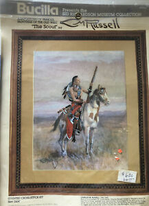 Bucilla CM Russell The Scout Counted Cross Stitch Kit #40136 Sid Richardson NEW