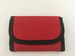 2-Soft Sided Unisex Wallet with Belt Strap-Red