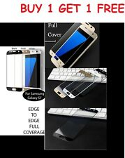 Genuine Colour Tempered Glass Film Screen Protector for Samsung Galaxy S7 BOGOF