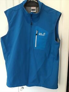 Jack Wolfskin Waterproof Gillet XL Blue New