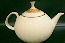 ARZBERG China  Teapot 4253 Gold Edge Germany Heinrich Löffelhardt Fluted