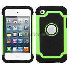 For Apple iPod Touch 4 4th Gen Hybrid Defender Slim Armor Hard Case Cover Skin