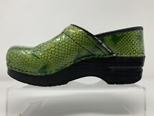 Dansko Size 37 (6.5-7US)  Green Snake Croc Medical Nursing Shoes