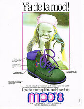 PUBLICITE ADVERTISING 074  1989  MOD' 8   chaussures enfants