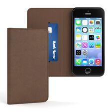 Tasche für Apple iPhone SE / 5 / 5S Vintage Cover Handy Schutz Hülle Case Braun