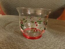 Pfaltzgraff Winterberry Votive Holders - Christmas Candle Holders