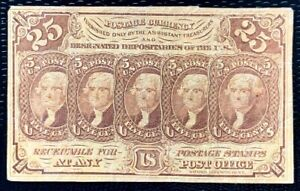 1862 US Postage Stamps Note #99 25c Heads of JEFFERSON imperf.