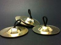4 piece (2 pair) gold Brass Finger Cymbals Zills Belly Dancer , dance schools