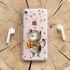 Halloween iPhone X XS XR Clear Case Cat iPhone 11 Pro Cover Cute iPhone 7 8 Plus