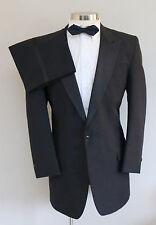 Mens 43L Raffinati 2 Piece Black Wool Blend Tuxedo