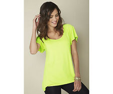 TG Size 12 Lime Cross Back Top Blouse * FREE P&P