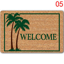 Letter Funny Welcome Home Entrance Floor Rug Non-slip Doormat Carpet Door Mat K