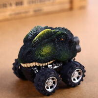 Kid Children Pull Back Car Dinosaur Figures Jurassic Toy Model Double Dragon