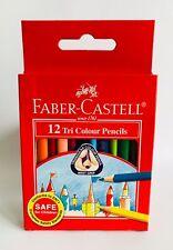 2 X Faber-Castell 12 MATITE breve Tri Colore