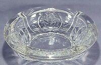 Vintage Clear Glass Cigarette Ashtray Pressed Glass Rose Design KIG Indonesia