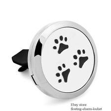 1PC Dog Paw Locket Car Vent Clip Air Freshener Essential Oil Diffuser 5pcs Pads