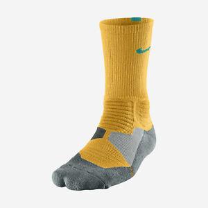 NIKE HYPER ELITE Basketball Crew Socks SX4801-807 Large Atomic Mango / Green