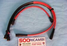 FIAT 500 D/F SERIE CAVI CANDELA BOBINA COLORE ROSSI SPINTEROGENO MOTORE NUOVI