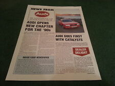 Late 1989 DEALER ONLY NEWS FROM AUDI UK BROCHURE - Quattro 80 Coupe 100 90 20V