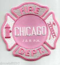 "Chicago  Fire Dept. -  Pink Tribute (3.5"" x 3.5"" size) fire patch"