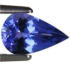 0.78 Ct A+ Natural D Block Tanzanite Medium Light Blue Violet Color Pear Cut
