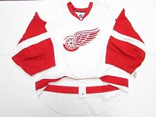 DETROIT RED WINGS AUTHENTIC AWAY WHITE REEBOK EDGE 2.0 7287 JERSEY GOALIE CUT 60