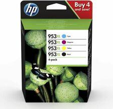 Hp 953XL Pack de 4 Cartouches d'Imprimante - Noire/Cyan/Magenta/Jaune pour HP OfficeJet Pro 7720/7740 WF/8710