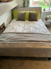 Crushed Velvet Grey Double Bed
