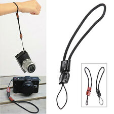 Black/Brown Leather Camera Wrist Hand Strap Lanyard For Sony Canon Nikon Samsung