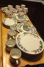 Floral WOODHILL China by CITATION 29 Piece Lot Dinnerware Set Service For 10 +/-