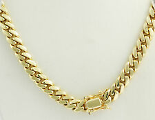 "430 gm 14k Yellow Solid Gold Men's Heavy Miami Cuban Chain Necklace 34"" 12.00mm"