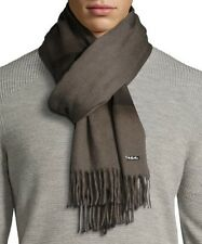 $825 Loro Piana Brown 100% Cashmere LONG Men's Scarf Made in Italy 2-Tone