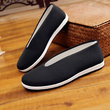 Chinese Martial Art Kung Fu Ninja Shoes Slip On Sole-Canvas Slippers Black White